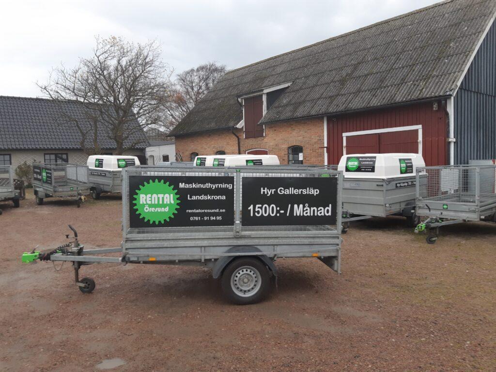 Rental Öresund i släpvagnsuthyrning hyr ut släp till er i Helsingborg