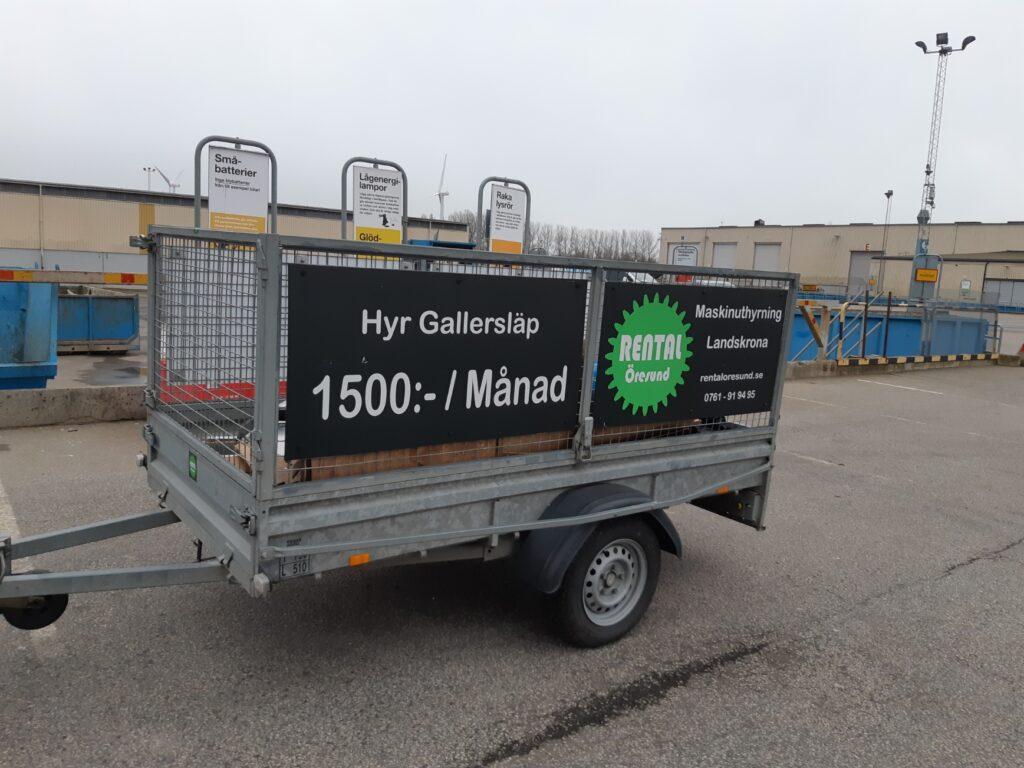 Ni som bor i Bjärred kan hyra släpvagnar och gallersläp hos Rental Öresund i Landskrona. Vi är specialiserade på långtidsuthyrning av släp.