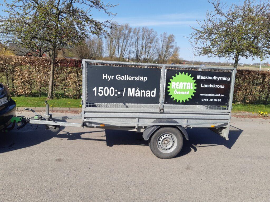 Rental Öresund Släpvagnsuthyrning hyr ut Gallersläp till er från Staffanstorp. Vi erbjuder Långtidshyra, Veckohyra och Månadshyra.