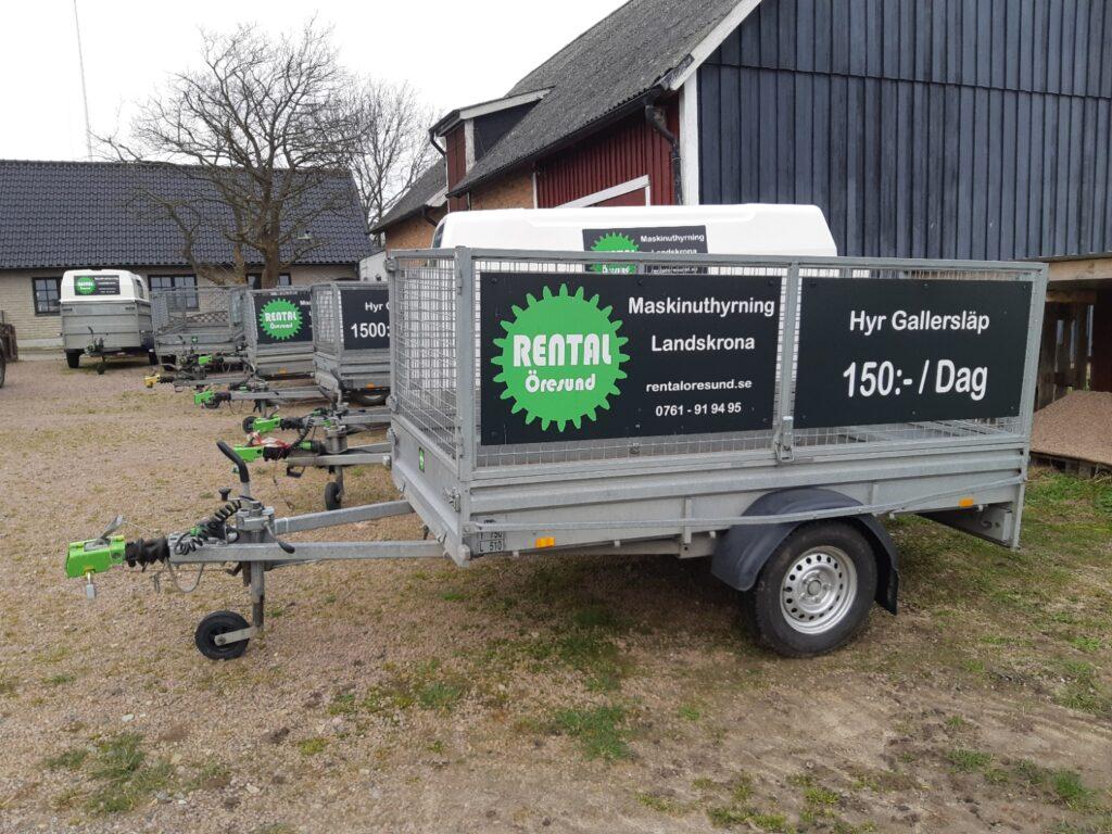 Du som bor i Rydebäck kan hyra Gallersläp hos Rental Öresund i Landskrona. Vi är specialisten på långtidsuthyrning och erbjuder Veckohyra och månadshyra av släpvagnar.