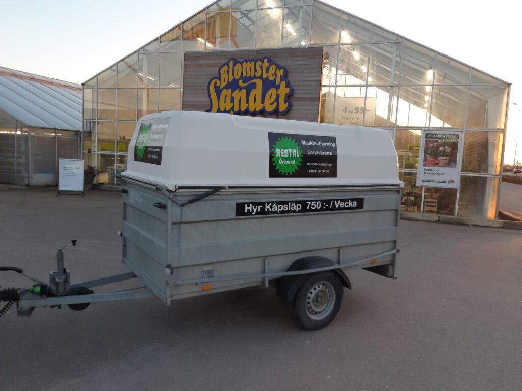 För er från Rydebäck finns släpvagnsuthyrning hos Rental Öresund i Landskrona. Hyr Kåpsläp vi erbjuder långtidshyra, veckohyra och månadshyra av släpvagnar.